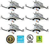 4'' LED New Construction IC Rated Housing LED Recessed Lighting 6 Pack