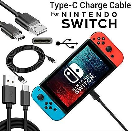Amyove Para Nintend Switch Cargador Cable de Cable de Carga ...
