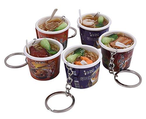Zeroyoyo Creative Fake Instant Noodles Key Ring Fashion Bag Cell Phone Charm Random Color 1PCS