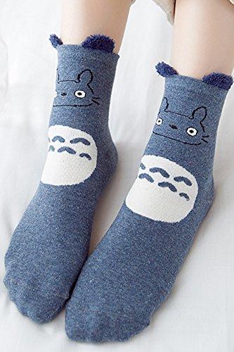 Generic 5 pairs of dress Ms. Japanese stereo ear cartoon animal plush cute girls in tube socks pure cotton socks Korean
