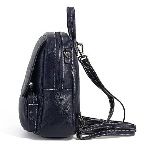1906 Sac LF portés en épaule E à dos Girl portés Bleu Sac femme main fashion cuir Sac wt45A