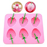 iNewcow Silicone Strawberry Ice Cube Mould Tray For Party...