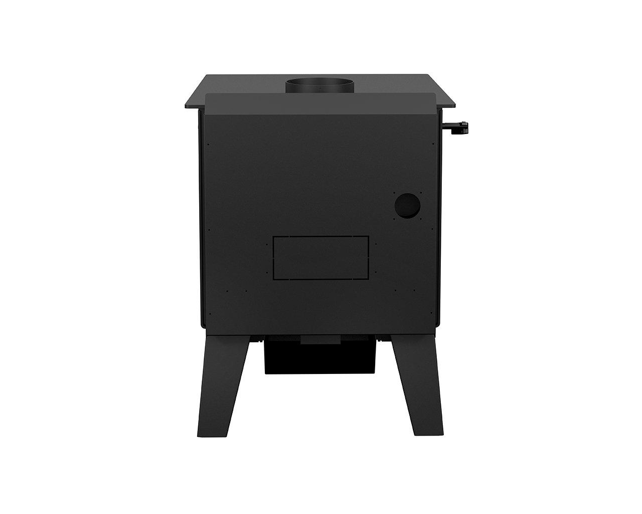 Drolet Black Stag High-Efficiency Wood Stove - 90,000 BTU, EPA Certified, Model Number DB03410 by Drolet