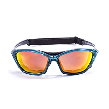 Ocean Sunglasses Lake Garda - Gafas de Sol polarizadas - Montura : Verde Transparente - Lentes