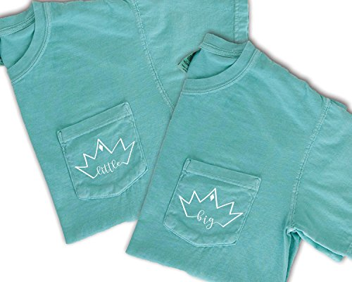 Greek Recruitment Shirts - Big Little Sorority Family Crown T-Shirts Zeta Tau Alpha by Go Greek Chic | Comfort Colors Pocket Tees