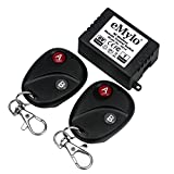 eMylo DC 6V 1CH 433Mhz RF Relay Wireless Remote Control Light Switch 2pcs Transmitter with Receiver