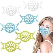 Suporte de máscara 3D de silicone 2021, máscara facial com suporte interno, protetor de batom respirável, lavá