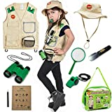 Born Toys Outdoor Explorer Kit for Boys and Girls with Washable Premium Safari Vest and Adventure...