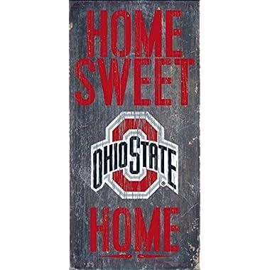 "Ohio State Buckeyes Wood Sign - Home Sweet Home 6""x12"""