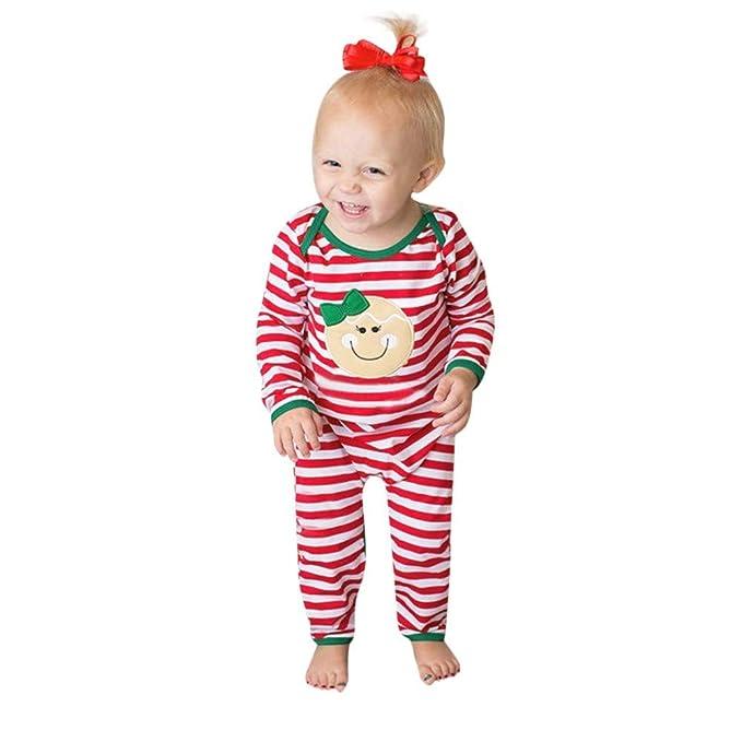 80fb4e03c4 POLP Niño Regalo Navidad Bebe Pijama Rojo Navidad Bebe Disfraz Ropa  Invierno Bebe niña Unisex Manga