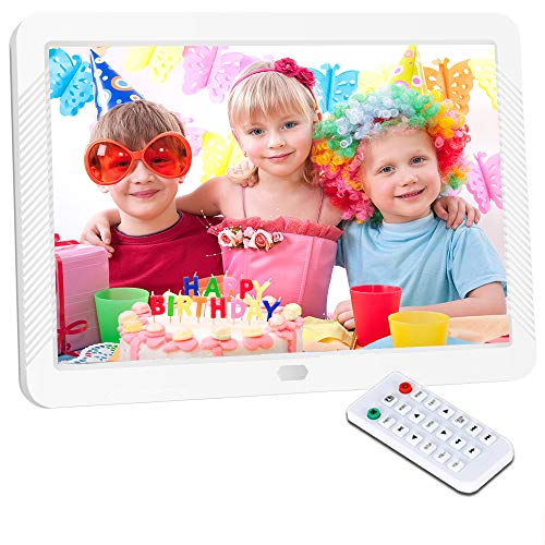 Digital Picture Frame 8 Inch Digital Photo Frame HD 1920X1080P with Remote Control 16:9 IPS Display Auto Slideshow Zoom Image Stereo Video Music Player Support USB SD Card 180° View ()