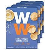 WW Salt and Vinegar Potato Crisps - Gluten-free, 2 SmartPoints - 4 Boxes (20 Count Total) - Weight Watchers Reimagined