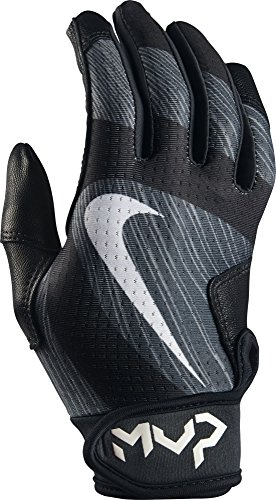 Baseball Wristbands Nike (Nike Kids MVP Edge Baseball Batting Gloves Black/Anthracite Size Medium)