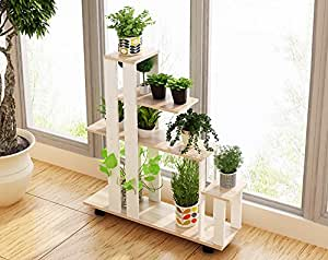 N- European style removable floor style flower rack Living room balcony ( Color : B )