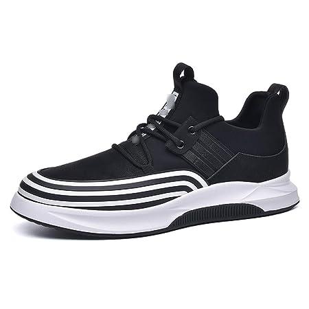 HS-MANWEI Zapatillas de Deporte con Cordones para Hombres Zapatos ...