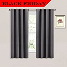 NICETOWN Thermal Insulated Blackout Curtains - Solid Grommet/ Drapes / Rideaux for Bedroom (1 Panel,52 by 63 Inch,Grey)