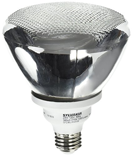 Sylvania 29625 - CF23EL/PAR38/BL/1 3000K Flood Screw Base Compact Fluorescent Light Bulb Flood Screw Base Compact