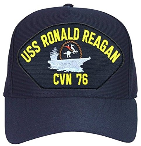 Ronald Reagan Baseball - Armed Forces Depot USS Ronald Reagan CVN-76 with Cowboy baseball cap. Navy Blue. Made in USA