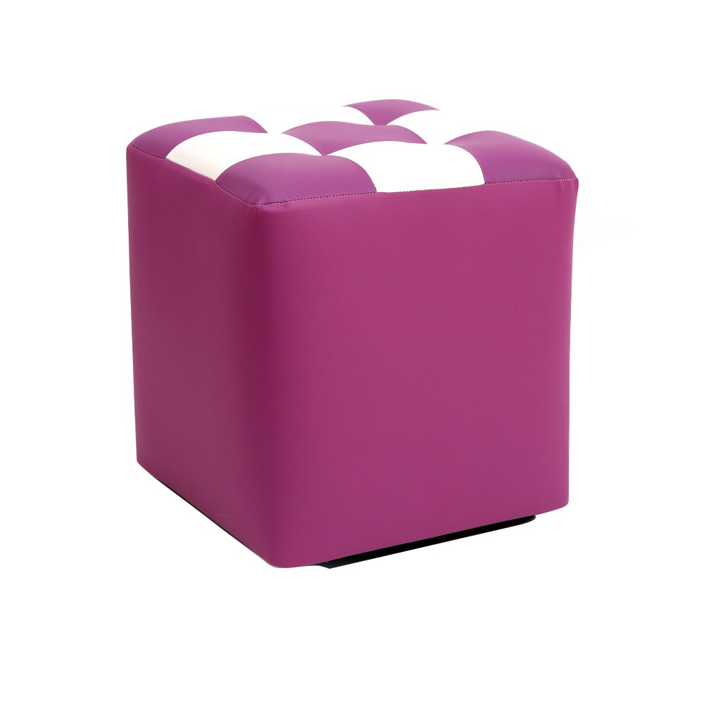 Square stool/Coffee Table Stool/Multifunctional footstool/Creative dressing stool/Shoes bench/Bed stool Living room sofa stool/low stool/303035cm (Color : Purple)