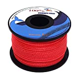 emma kites Red UHMWPE Braided Cord High Strength Least Stretch Tent Tarp Rain Fly Guyline Hammock Ridgeline Suspension for Camping Hiking Backpacking Survival Recreational Marine Outdoors 100Ft 200Lb