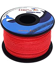 emma kites UHMWPE Braided Cord 100~1000lb High Strength Least Stretch Tent Tarp Rain Fly Guyline Hammock Ridgeline Suspension for Camping Hiking Backpacking Survival Recreational Marine Outdoors