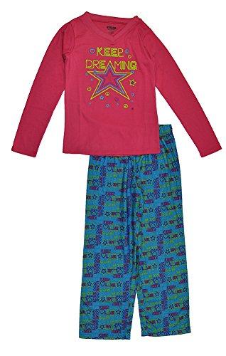 Sugar Sweet Couture Big Girls Pink & Multi Color Star Print 2pc Pajama Pant Set (14/16)