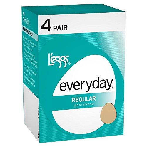 Everyday Pantyhose (L'eggs Womens Everyday Regular ST 4 Pair 39500 -Nude B)