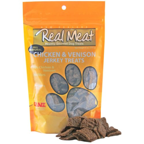 Real Meat Chicken and Venison Jerky Dog Treats, My Pet Supplies