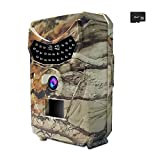 Trail Camera - ADSM Trail Hunting Camera 12MP 1080P HD IR LEDs Waterproof Scouting Game Hunt Trap Wildlife Observation Security Surveillance Monitor, 8GB SD Card as Gift