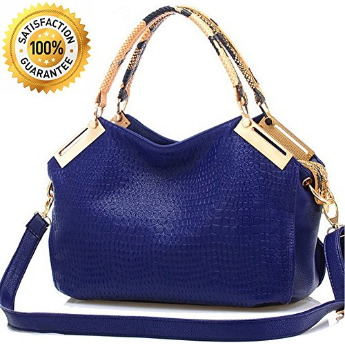 Handbags for Women - Designer Handbags - Classic Embossed Crocodile Office Ladies shoulder Handbags Satchel Tote Bag - PU Leather - Outlet Guess Bag