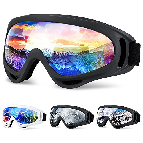 Ski Goggles, SiFREE Snowboard Goggles with UV 400 Protection Windproof Anti-Fog for Women Men Kids Girls Boys Winter Snowboard Snowmobile Skiing Skate Motorcycle Bicycle Riding