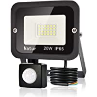 20 W LED-spot met bewegingsmelder, 6000 K, superheldere LED-buitenspot, schijnwerper, IP65, schijnwerper voor tuin…