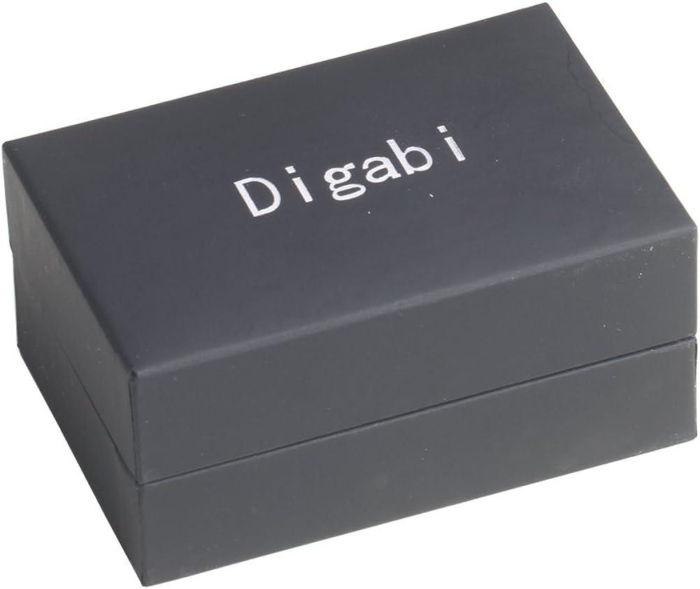 Digabi Men's Jewelry Newfangled Design 18k Platinum Plated and Oil Drip Cufflinks Color Purple