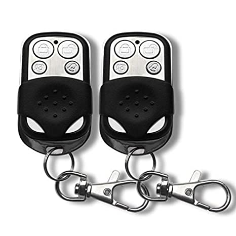 Italian Alarm - Juego de 2 mandos adicionales con protector de teclas deslizante, para alarmas de hogar inalámbricas modelos M2BX y M2, 433 MHz, GSM