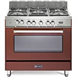 Verona VEFSGE365NBU 36 Freestanding Dual Fuel Range with 5 Sealed Burners 4.0 cu. ft. Capacity Convection Storage Drawer Electronic Ignition in