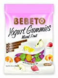BEBETO Yogurt Gummies Mixed Fruit - Gummy Candy with Fruit Juice - NO Artificial Colors - NO High Fructose Corn Syrup - 3.5 Oz (Pack of 12)