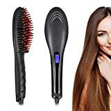 Hair Straightener Brush, LARMHOI Ceramic Hair Straightening with Anti Scald/Auto Shut Off/Digital Controls, Electrical Heated Irons Hair Straightening for Women Home Travel Curly Hair