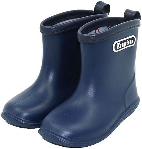 TRIWORIAE-Kids Toddler Rubber Rain Shoes PVC Waterproof Rain Boot Non-Slip Wellington Boots for Children Boys//Girls