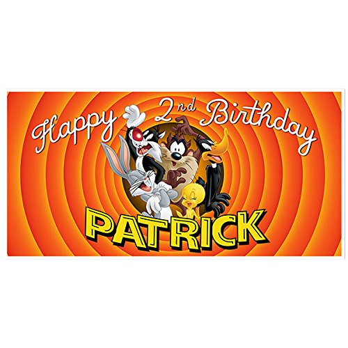 (Looney Tunes Personalized Birthday Banner Party Decoration Backdrop)