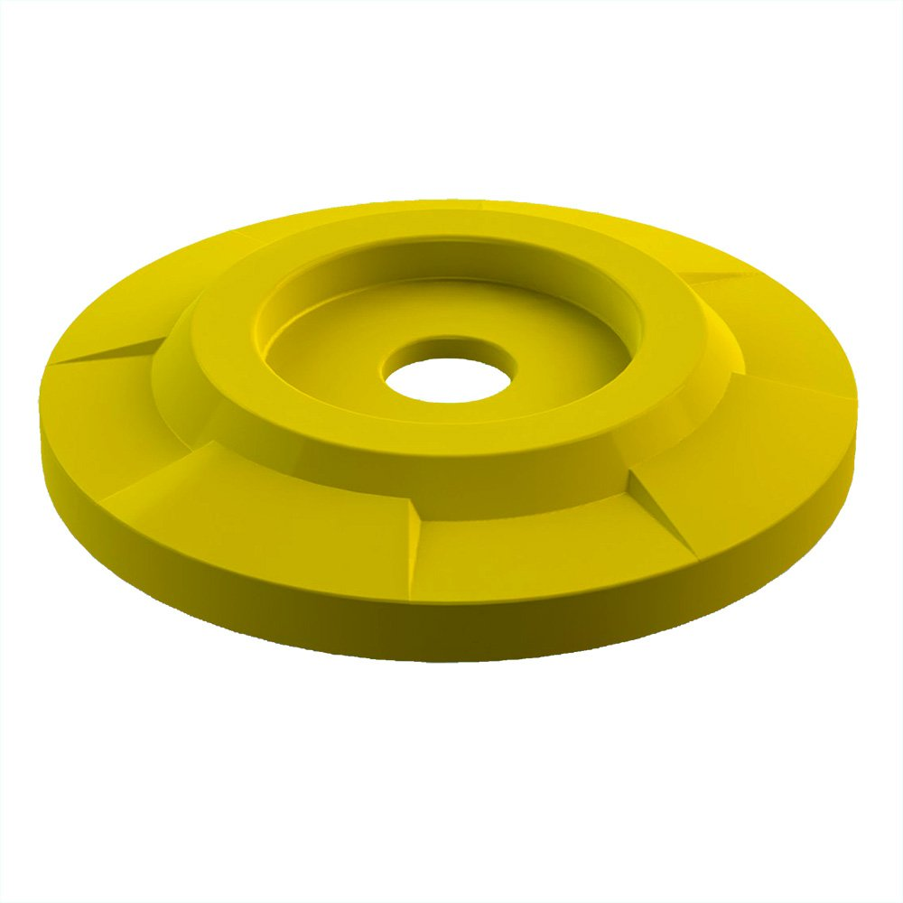 4'' Recycle Lid For 55 Gallon Drum | Yellow