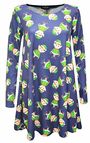 Other - Robe - Manches Longues - Femme Multicolore Bigarré -  Multicolore - XX-Large