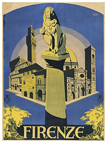 Amazon com: Florence Italy Vintage Travel Poster Art Firenze