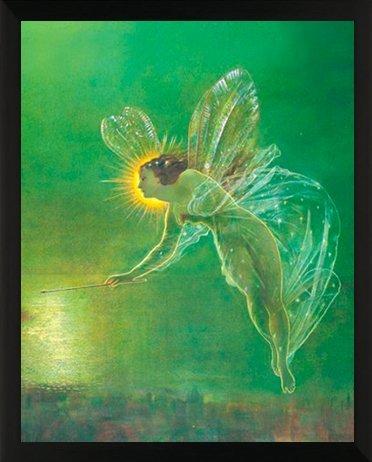 Fairy Framed Print - Classico John Atkinson Grimshaw Spirit of The Night Decorative Fairy Fantasy Art Print (11x14 Framed Poster)