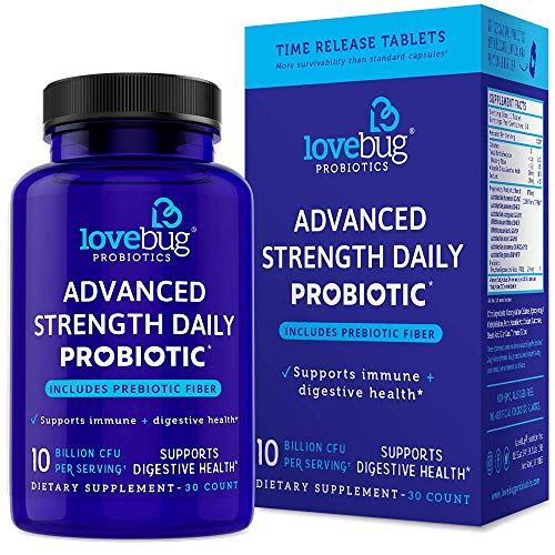 Probiotic and Prebiotic Digestive Health Supplement, Immune Support Shelf Stable – with 10 Billion CFU, Turmeric – for Men & Women, 15x More Survivability (30)