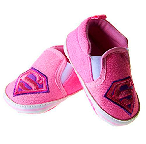 Supergirl Shoes (Baby Superhero Jumpsuit With Removable Cape and Shoes (0-6 Months, Supergirl Shoes))