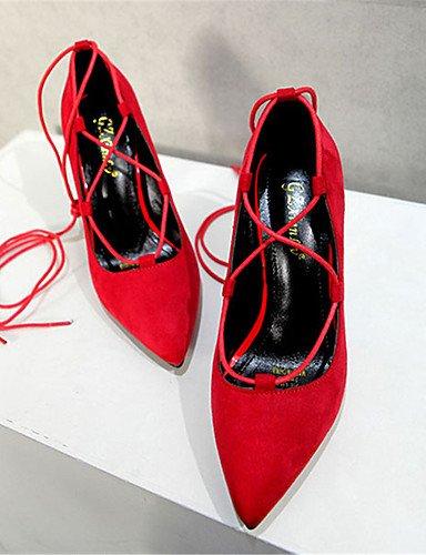 us8 Fiesta Vestido Mujer Tacón Vellón Negro us6 uk4 Rojo Tacones eu37 Noche y uk6 5 5 eu39 Stiletto GGX uk6 5 Bermellón red Tacones cn39 7 red cn37 eu39 cn39 us8 black dX5Yw66q