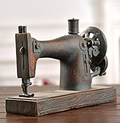 GL&G Modelo de máquina de coser retro bar vitrina Metal resina ...