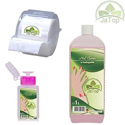 jatop Nail Limpiador, limpiauñas 1000ml, 300 Celular en el expendedor Descartable, 1 dispensador