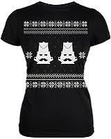 Nutcracker Ugly Christmas Sweater Black Juniors T-Shirt