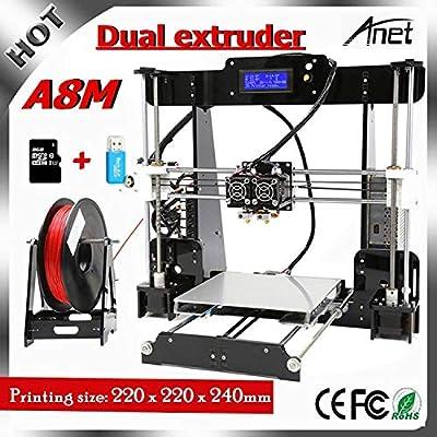 Anet A8 Impresora 3d, Prusa I3 3d printer con Dual extruder DIY ...